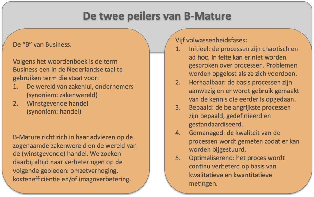De twee peilers van B-Mature